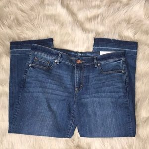 LOFT Ann Taylor Petite Straight Cropped Jeans 8P